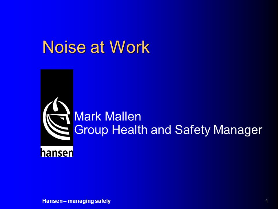 Mark Mallen Group Health and Safety Manager