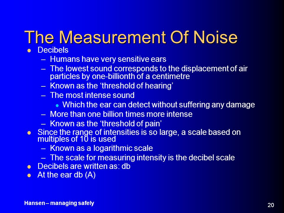 The Measurement Of Noise
