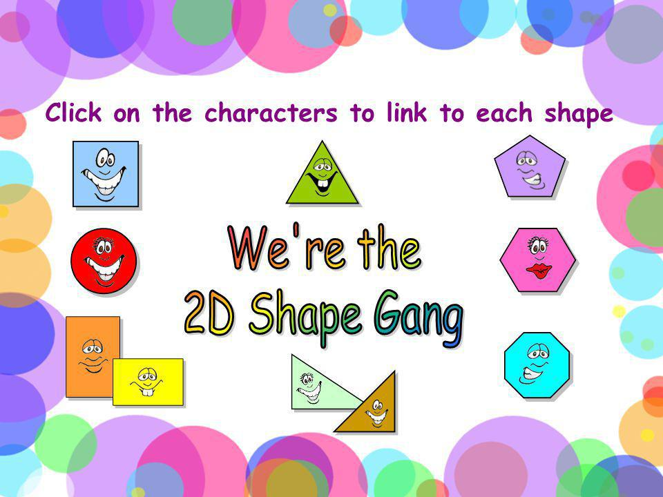 Click on the characters to link to each shape