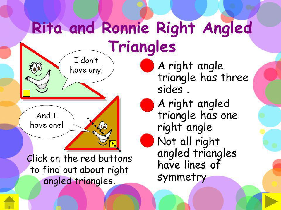 Rita and Ronnie Right Angled Triangles