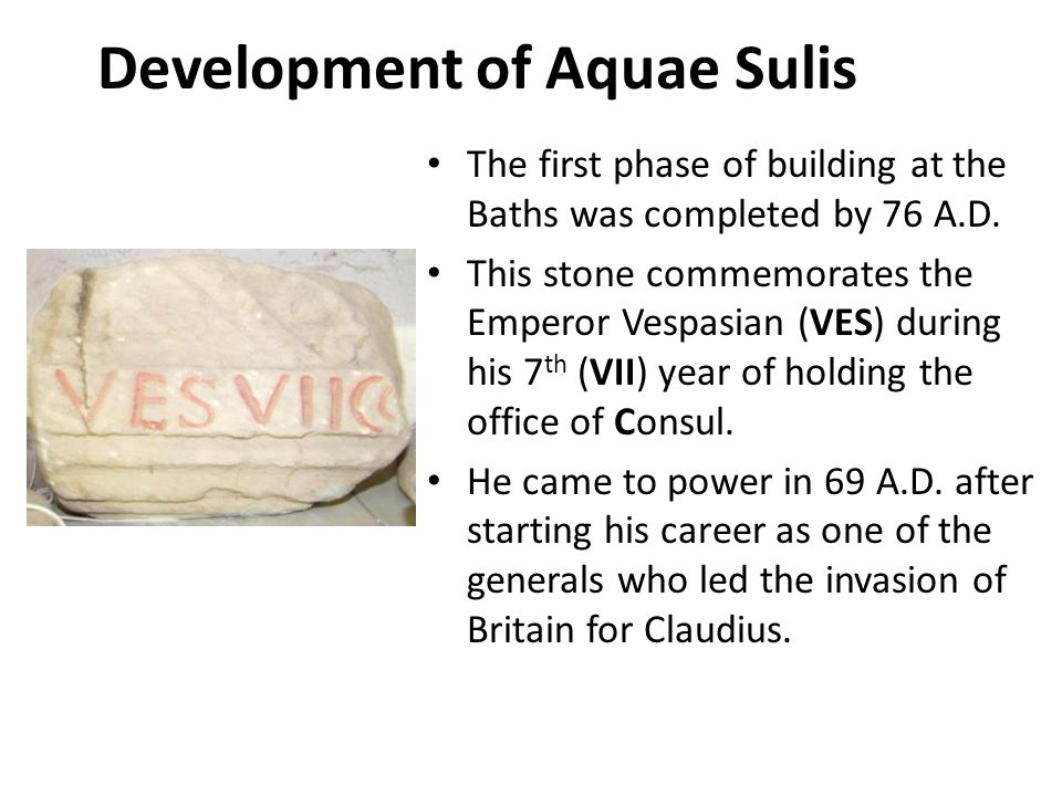 Development of Aquae Sulis