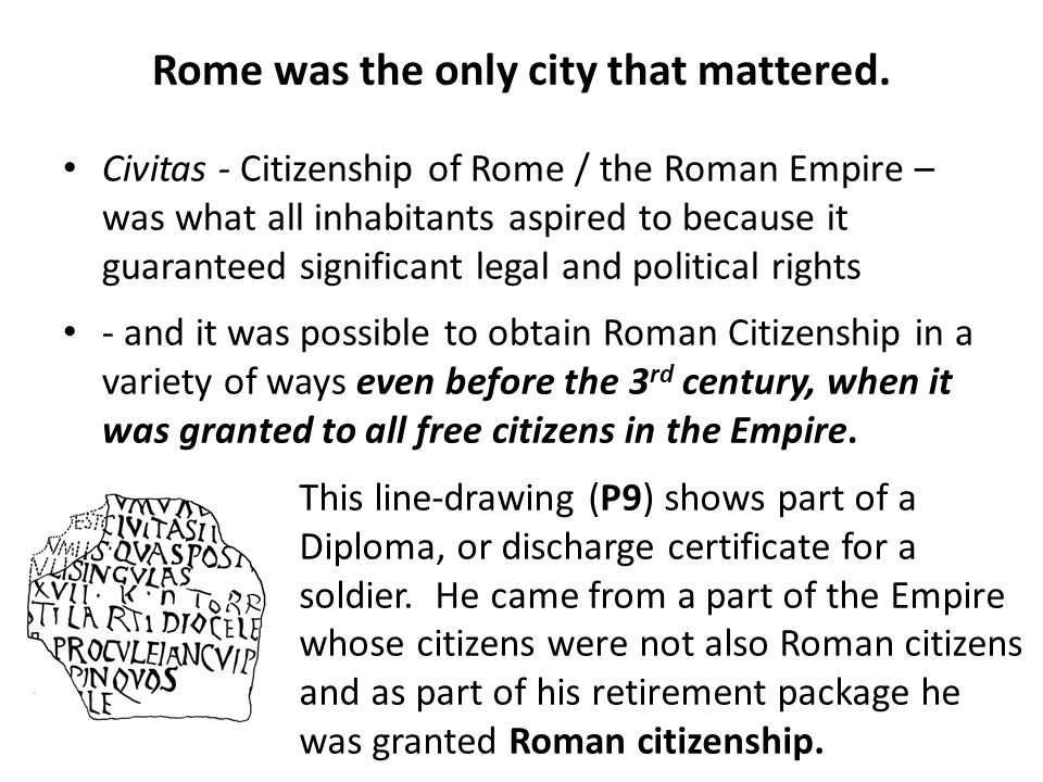 Rome was the only city that mattered.