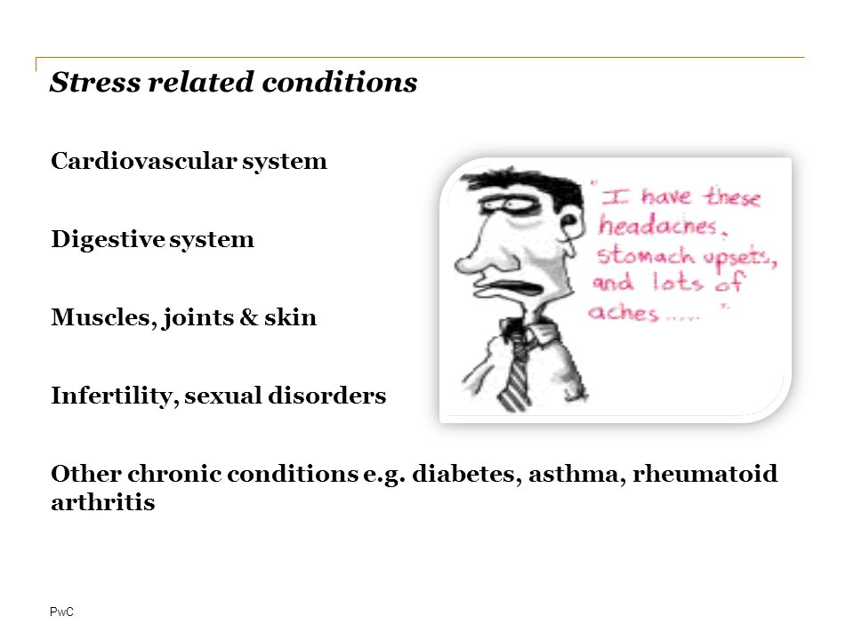Stress related conditions