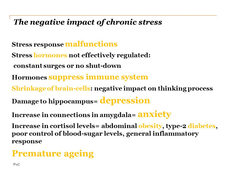 The negative impact of chronic stress