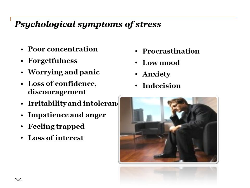 Psychological symptoms of stress