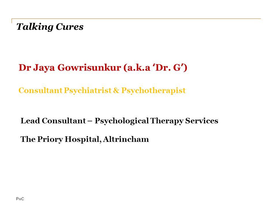 Dr Jaya Gowrisunkur (a.k.a 'Dr. G')