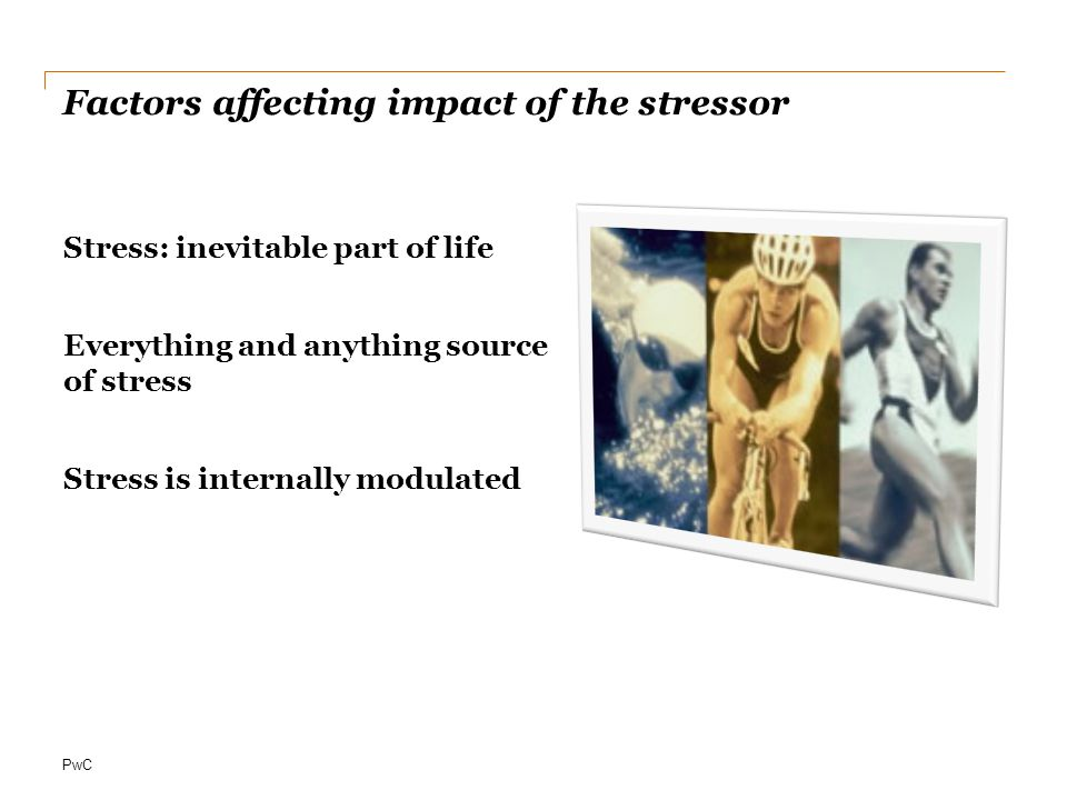 Factors affecting impact of the stressor