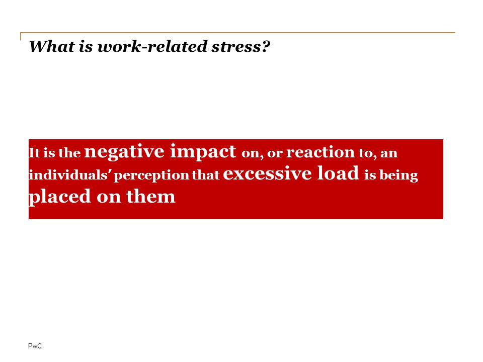 What is work-related stress