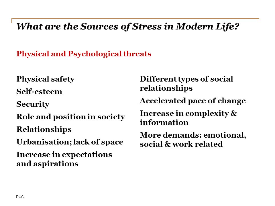 What are the Sources of Stress in Modern Life