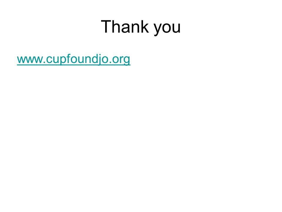 Thank you www.cupfoundjo.org