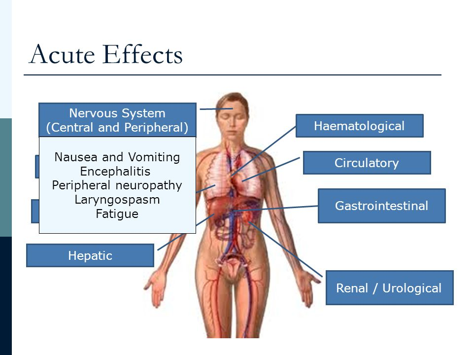 Acute Effects Nervous System (Central and Peripheral) Haematological