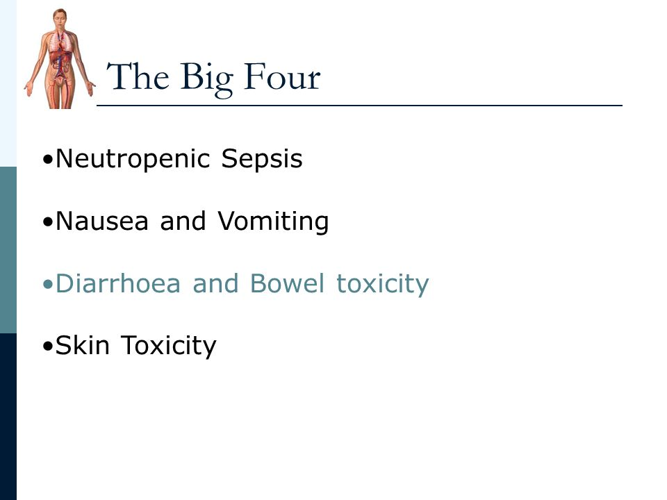 The Big Four Neutropenic Sepsis Nausea and Vomiting