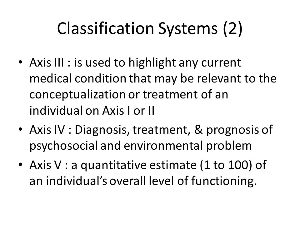 Classification Systems (2)