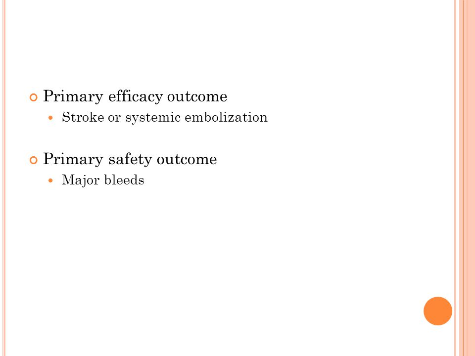 Primary efficacy outcome