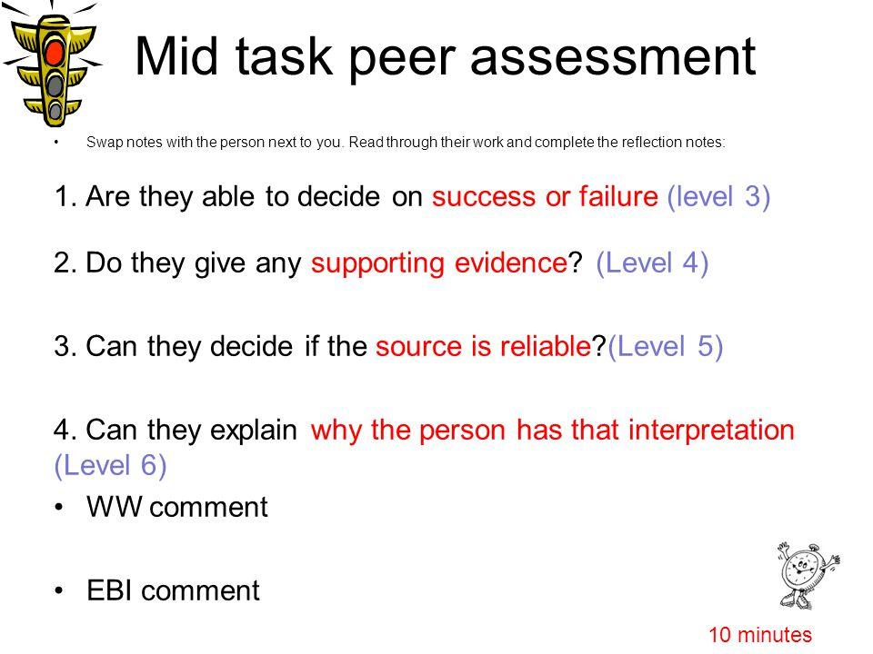 Mid task peer assessment