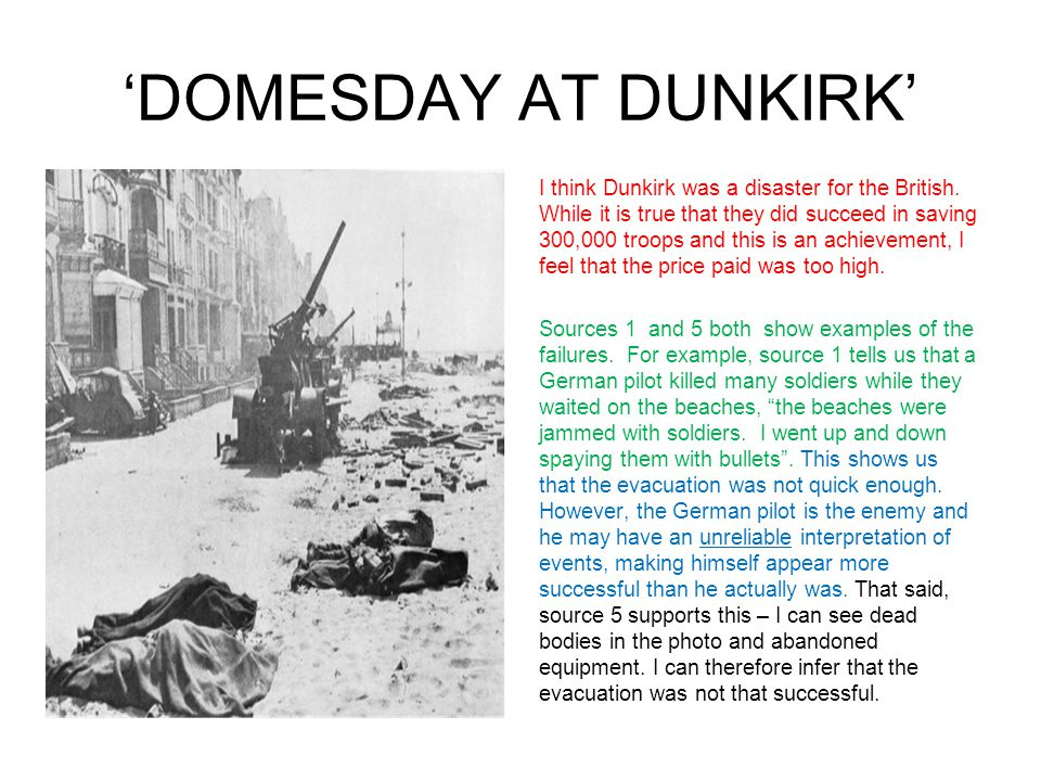 'DOMESDAY AT DUNKIRK'
