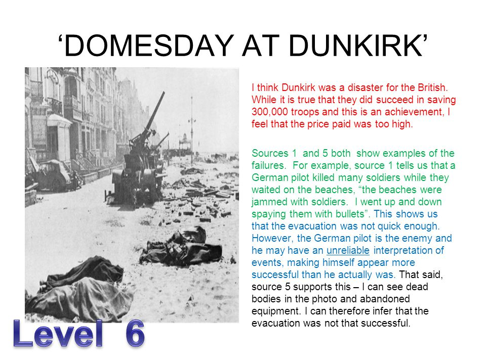 Level 6 'DOMESDAY AT DUNKIRK'