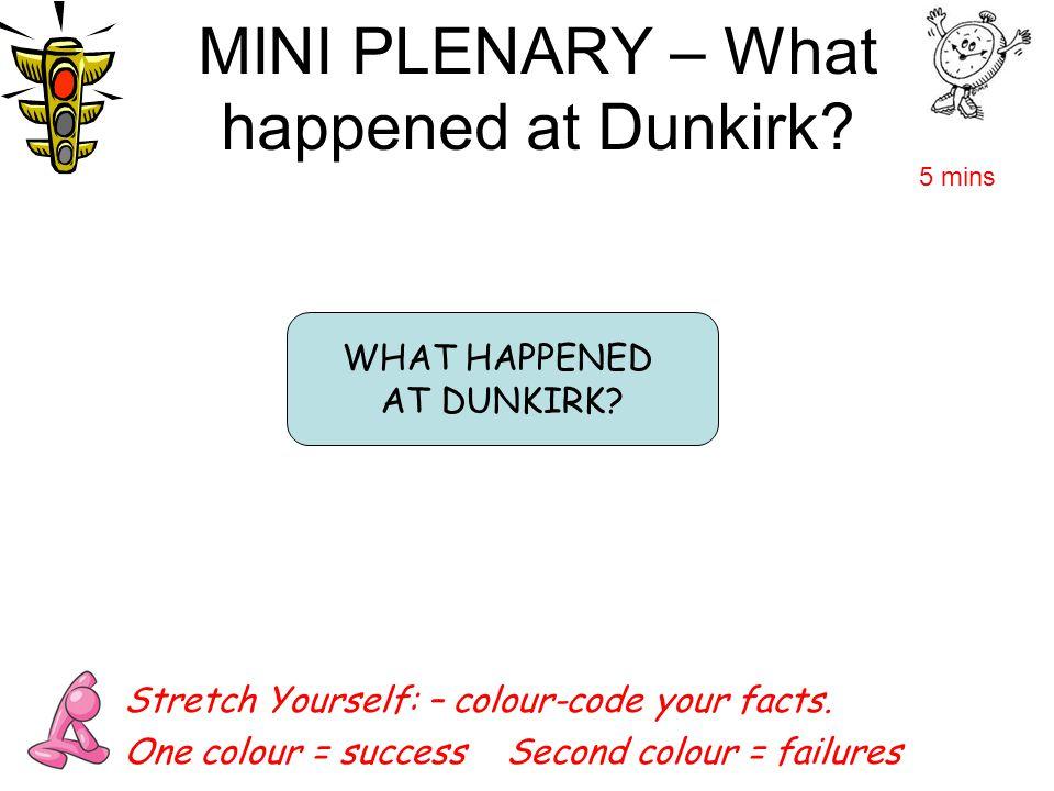 MINI PLENARY – What happened at Dunkirk