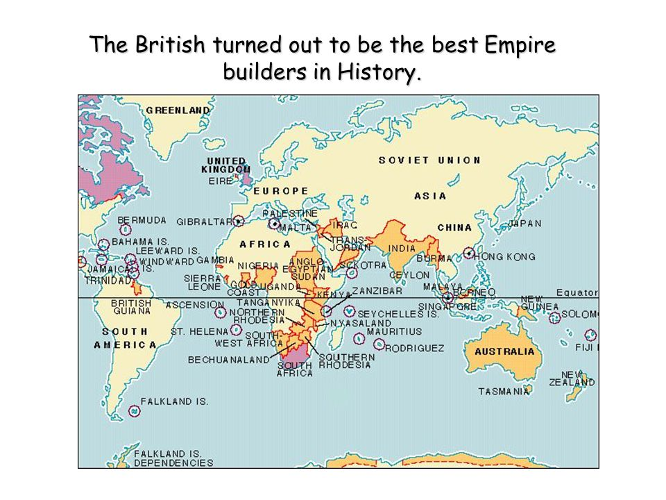 The British turned out to be the best Empire builders in History.