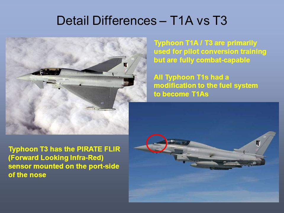 Detail Differences – T1A vs T3
