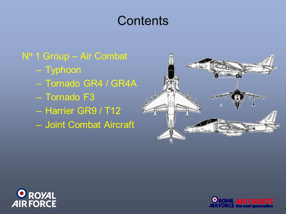 Contents No 1 Group – Air Combat Typhoon Tornado GR4 / GR4A Tornado F3