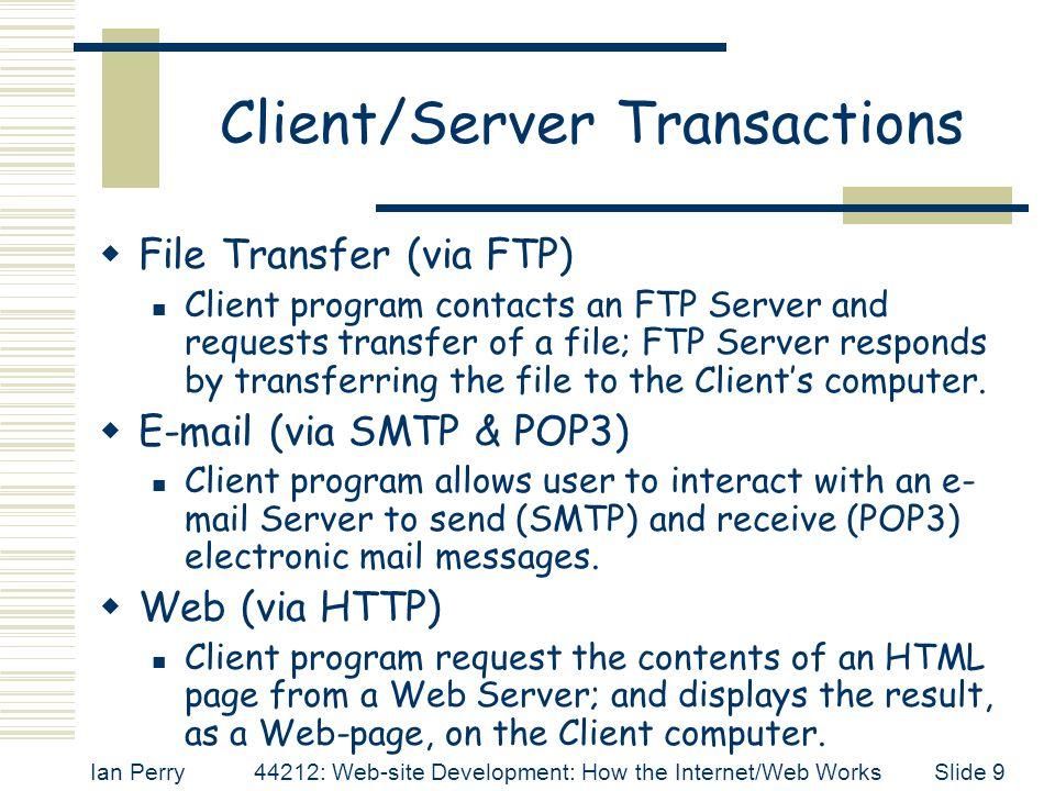 Client/Server Transactions