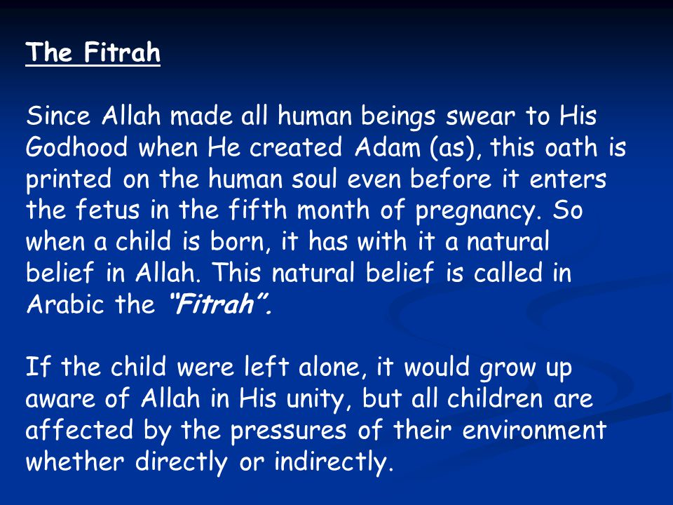 The Fitrah