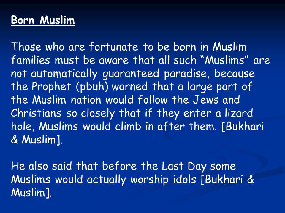 Born Muslim