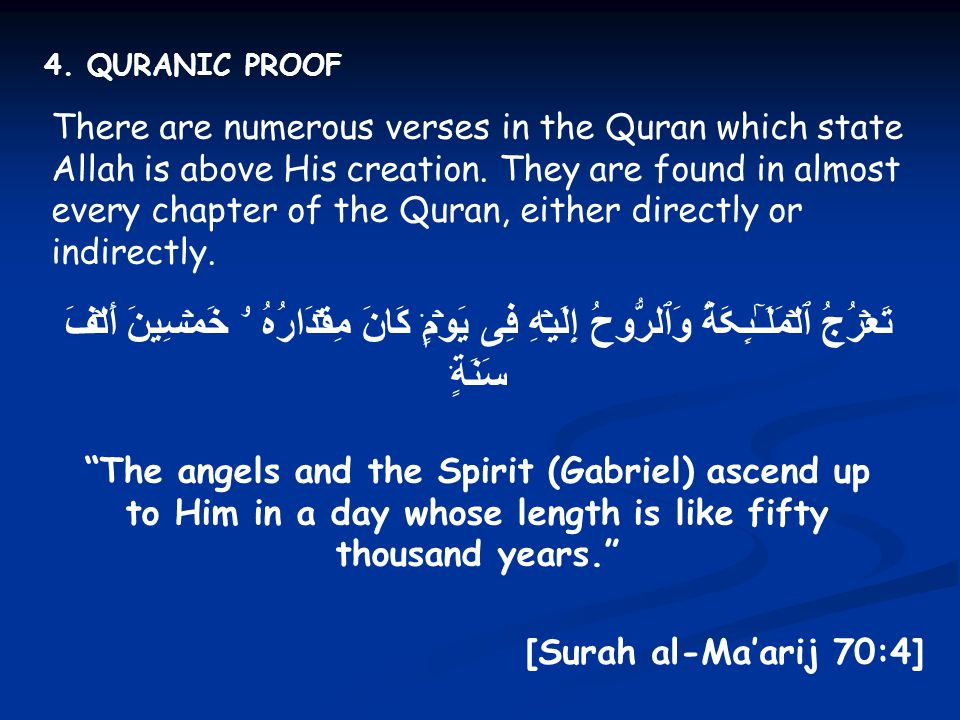 4. QURANIC PROOF
