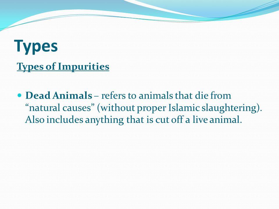 Types Types of Impurities