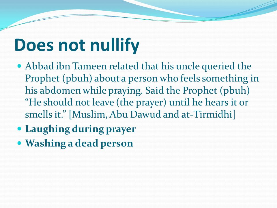Does not nullify