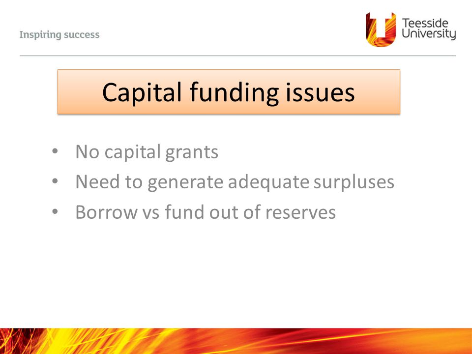 Capital funding issues