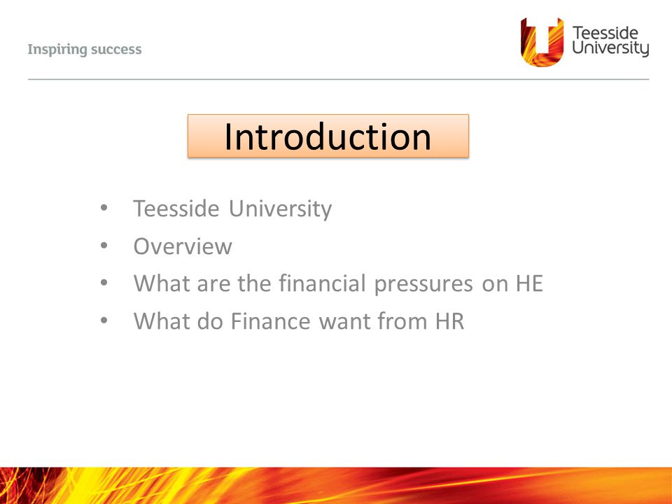 Introduction Teesside University Overview