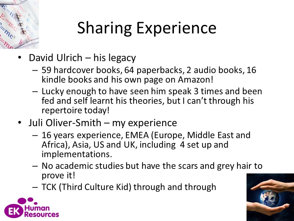 Sharing Experience David Ulrich – his legacy
