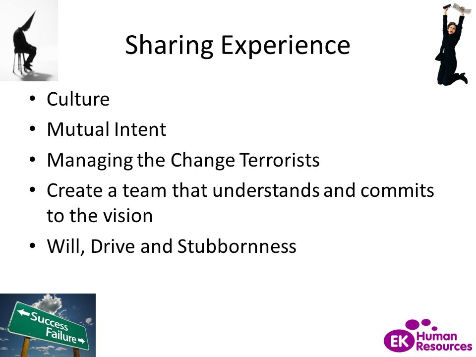 Sharing Experience Culture Mutual Intent