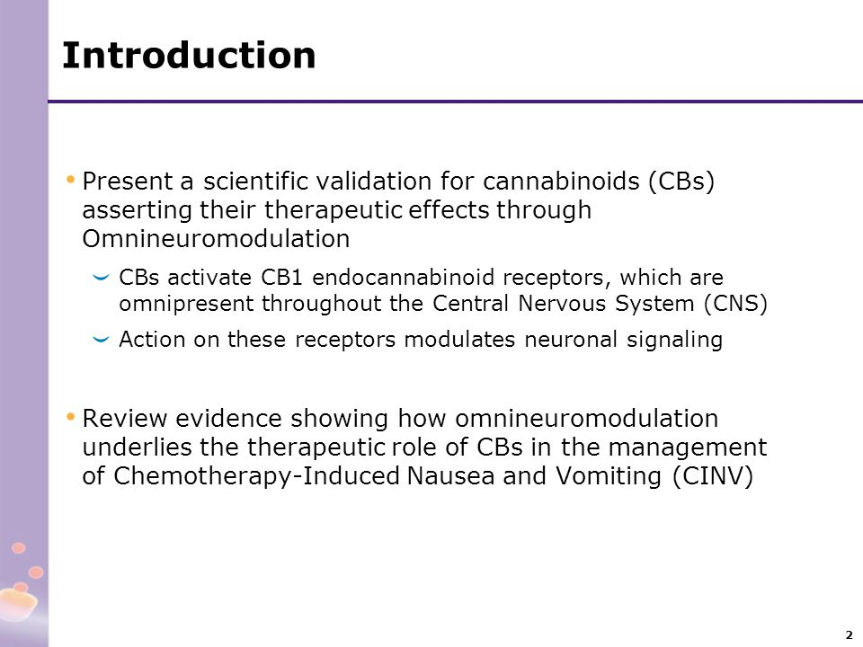 Introduction Present a scientific validation for cannabinoids (CBs) asserting their therapeutic effects through Omnineuromodulation.