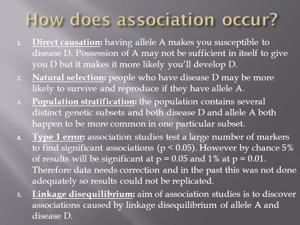 How does association occur