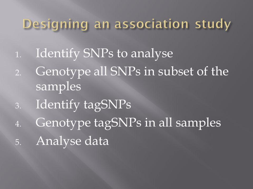 Designing an association study