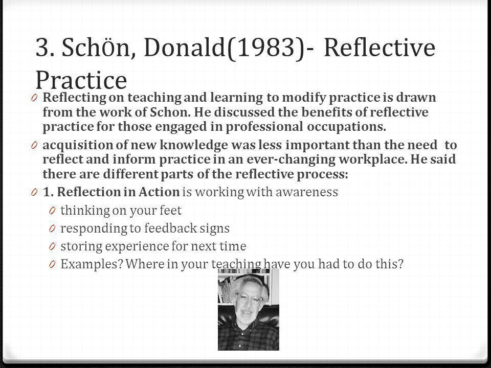 3. SchÖn, Donald(1983)- Reflective Practice