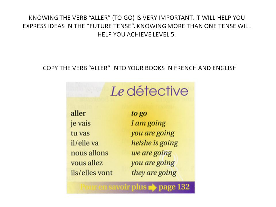 KNOWING THE VERB ALLER (TO GO) IS VERY IMPORTANT