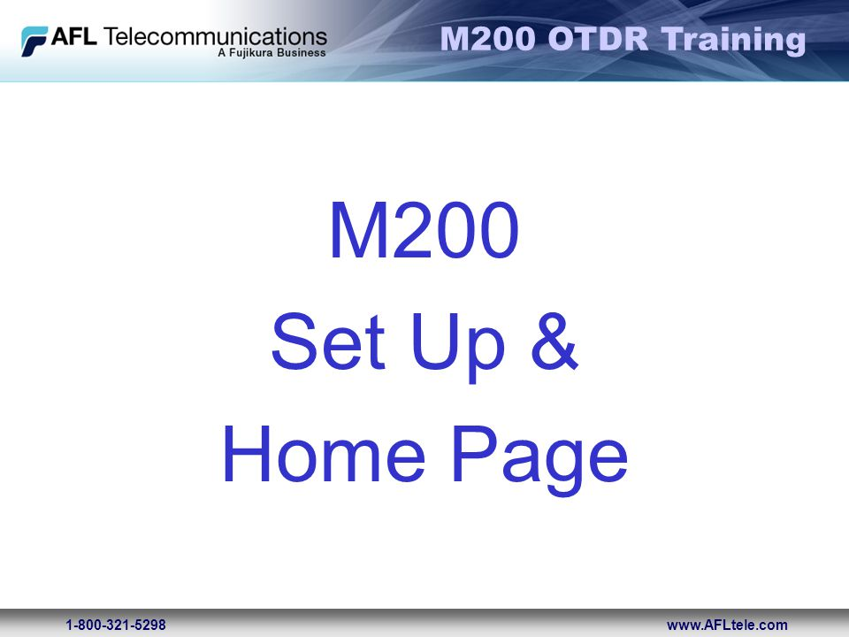 M200 Set Up & Home Page