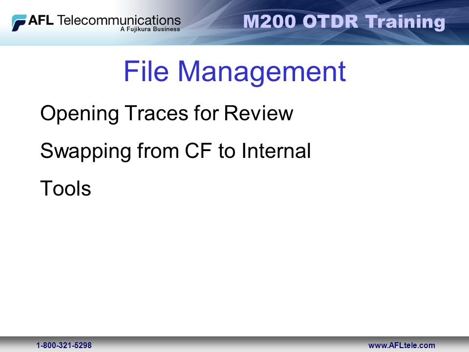 File Management Opening Traces for Review Swapping from CF to Internal