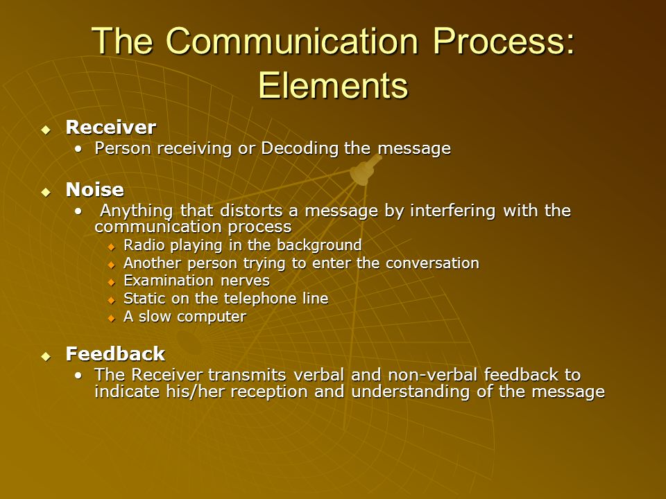 The Communication Process: Elements