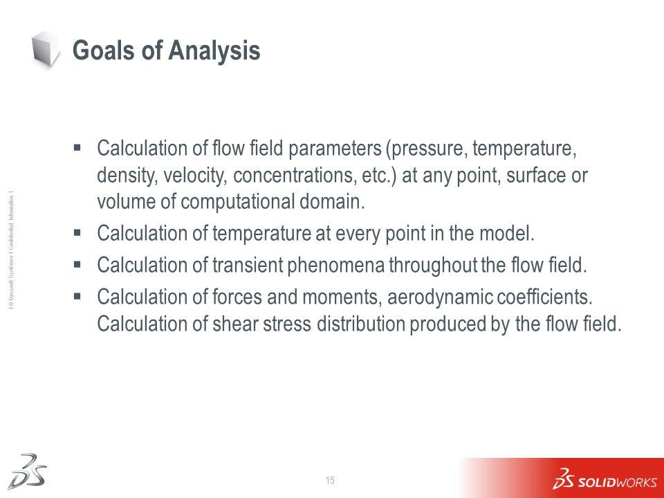 Goals of Analysis