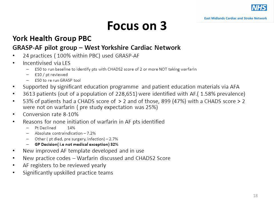 Focus on 3 York Health Group PBC