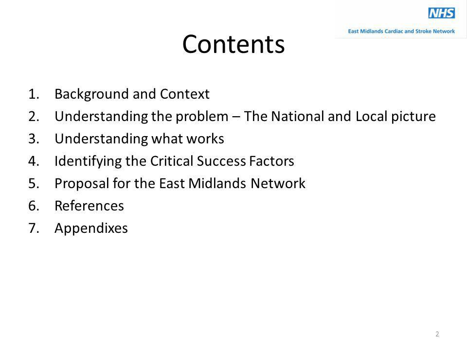 Contents Background and Context