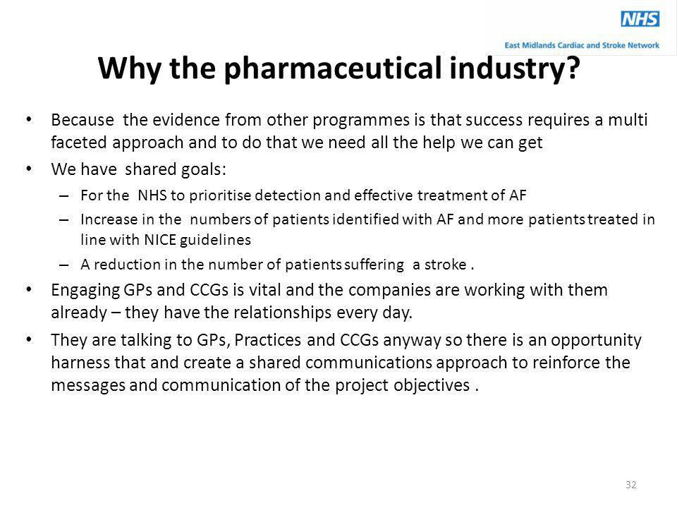 Why the pharmaceutical industry