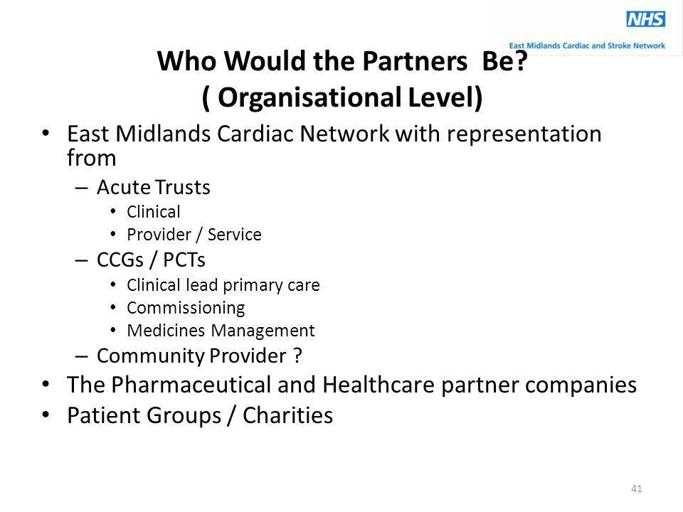 Who Would the Partners Be ( Organisational Level)