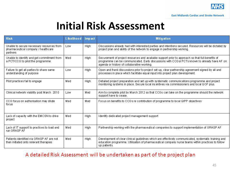 Initial Risk Assessment
