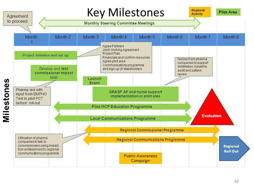 Key Milestones Milestones Agreement to proceed Month 1 Month 2 Month 3
